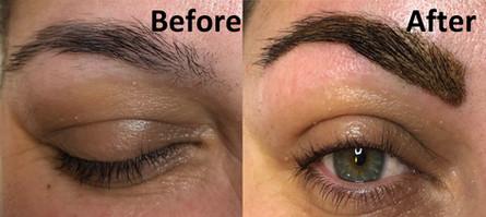 Eyebrow wax and tint and tint with Henna
