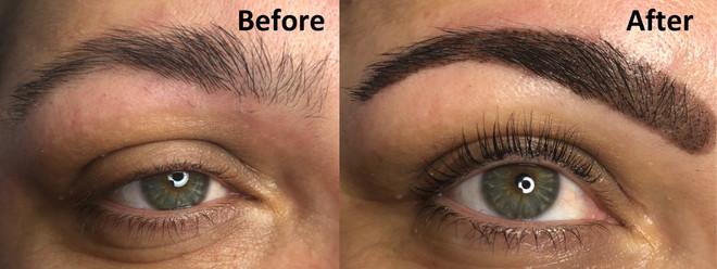 Lash Lift and eyebrow tint with Henna