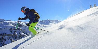 Skieur hors piste