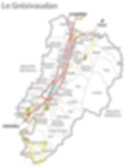 carte de la vallée du grésivaudan