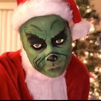 Face painted for someone's Xmas card