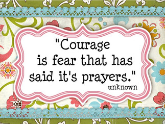 Courage uplifts