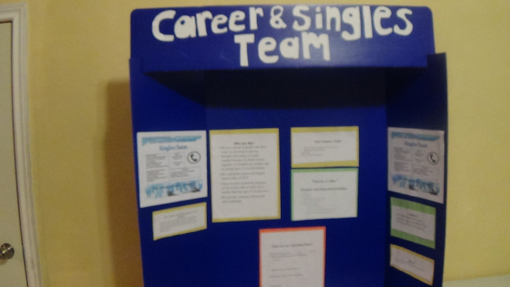 The Singles and Careers Team made a fantastic display of the programs they will be offering this year.