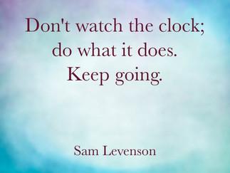 The clock speaks