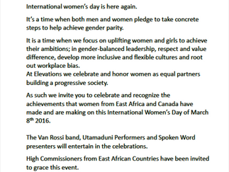 International Women's Day Celebration Invite