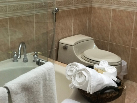 Bathrooms with showers and baths.