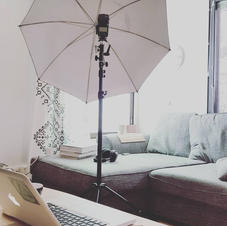 Our livingroom converted to small studio