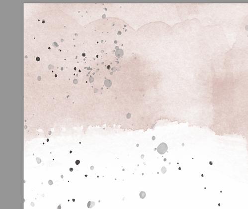 "Seidenpapier Watercolor NUDE ""Kleines Format"""
