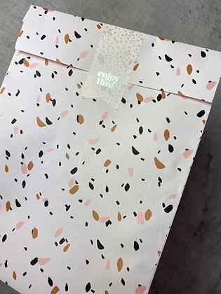Papiertaschen M Schnipsel Peach