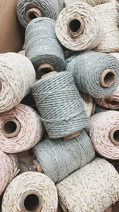 Baumwollband 1 Rolle 50 Meter 4 Farben