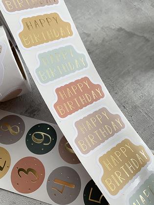 Happy Birthday  NEW Color 10 Sticker