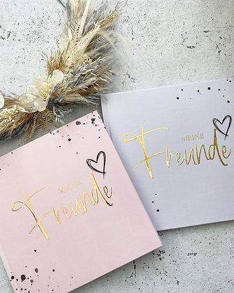 Freundebuch für Erwachsene metallic rosa