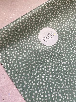 Seidenpapier Salbei Dots