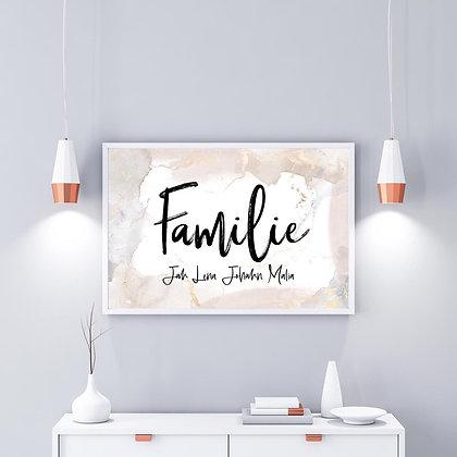 Familie watercolor beige