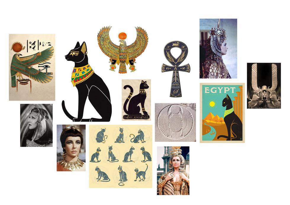 Egyptian Cat Moodboard