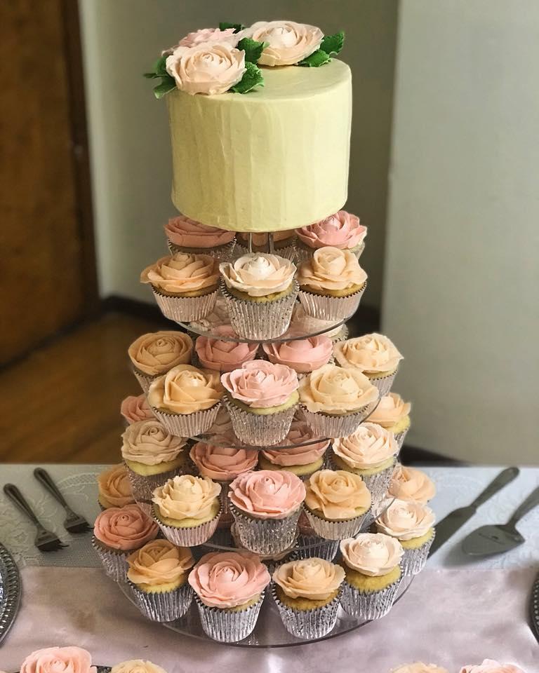 Cake and Cupcake Tower for Wedding