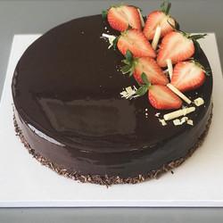 Chocolate Mirror Cake