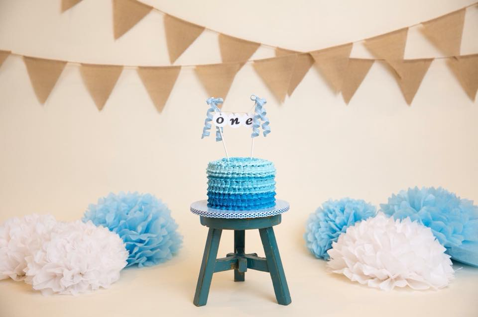 Blue Smash Cake