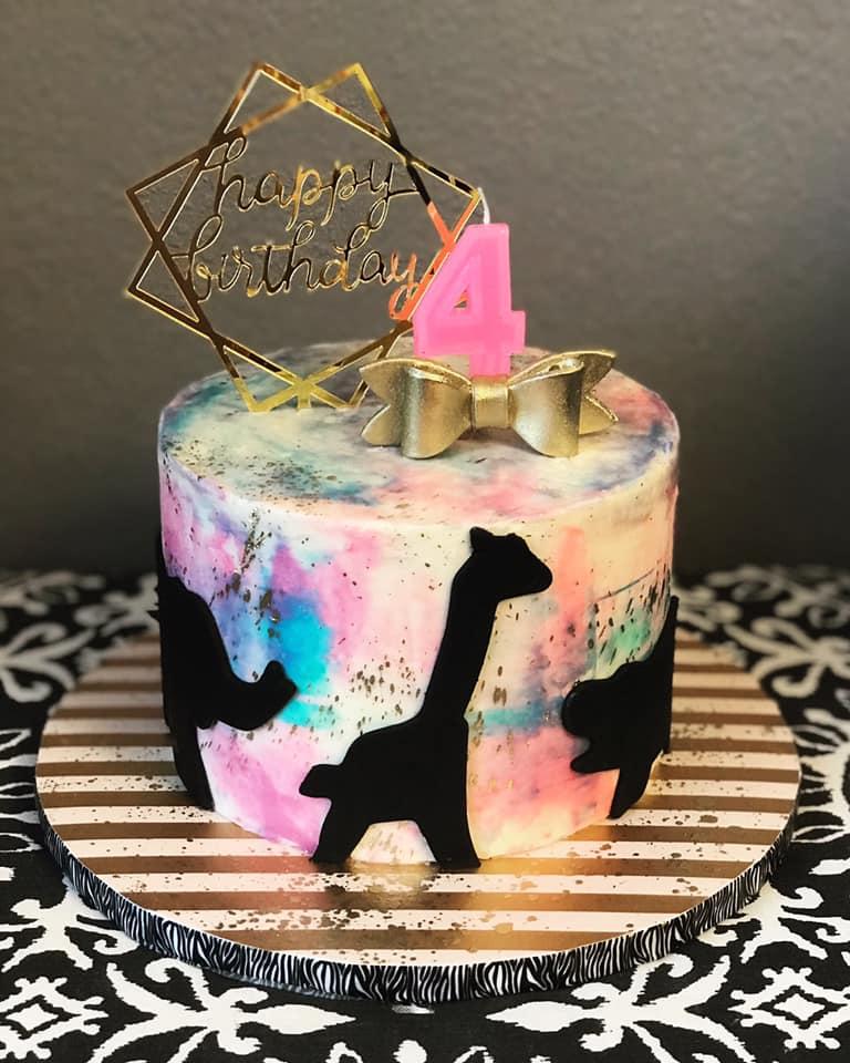 Zoo Theme Birthday Cake