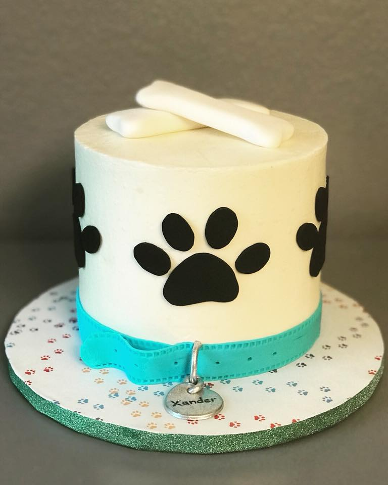 Puppy Paw Cake