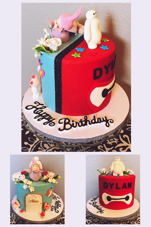 Double Sided Birthday Cake