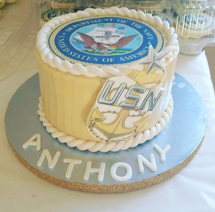 US Navy Promotion Cake