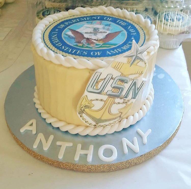 US Navy Promotion Cake