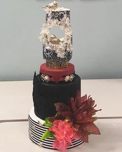 Elegant and Modern Detailed Cake