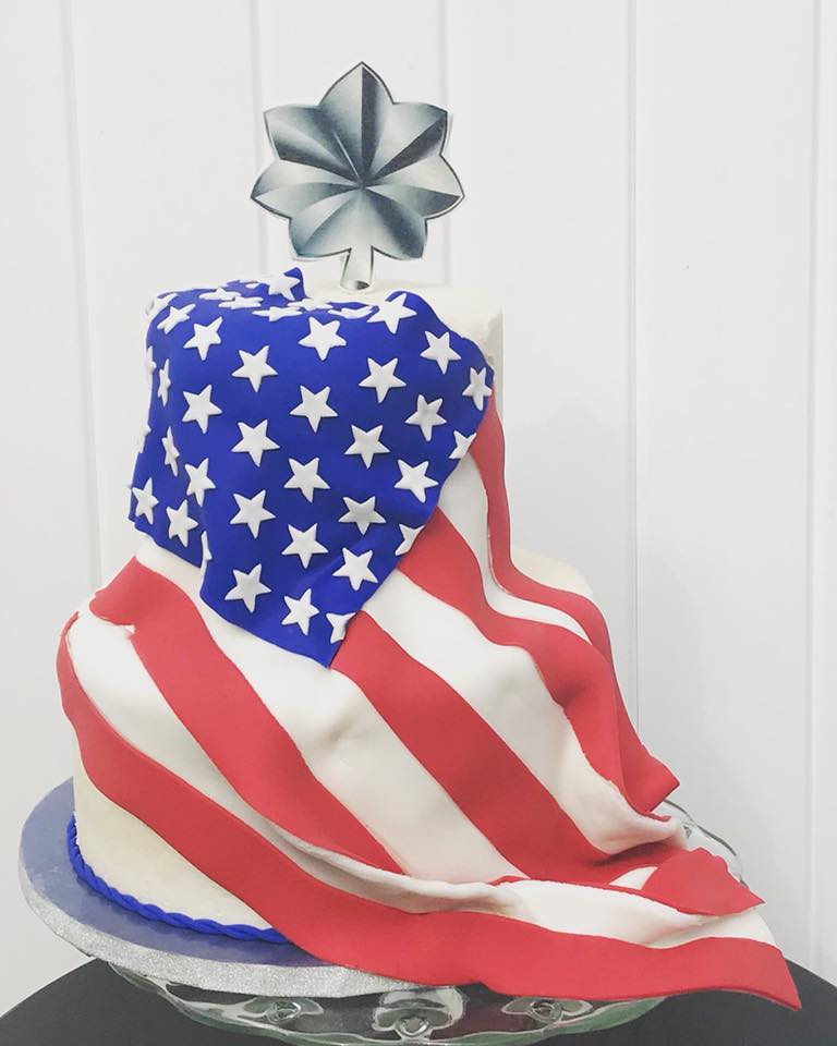 Military Promotion Cake