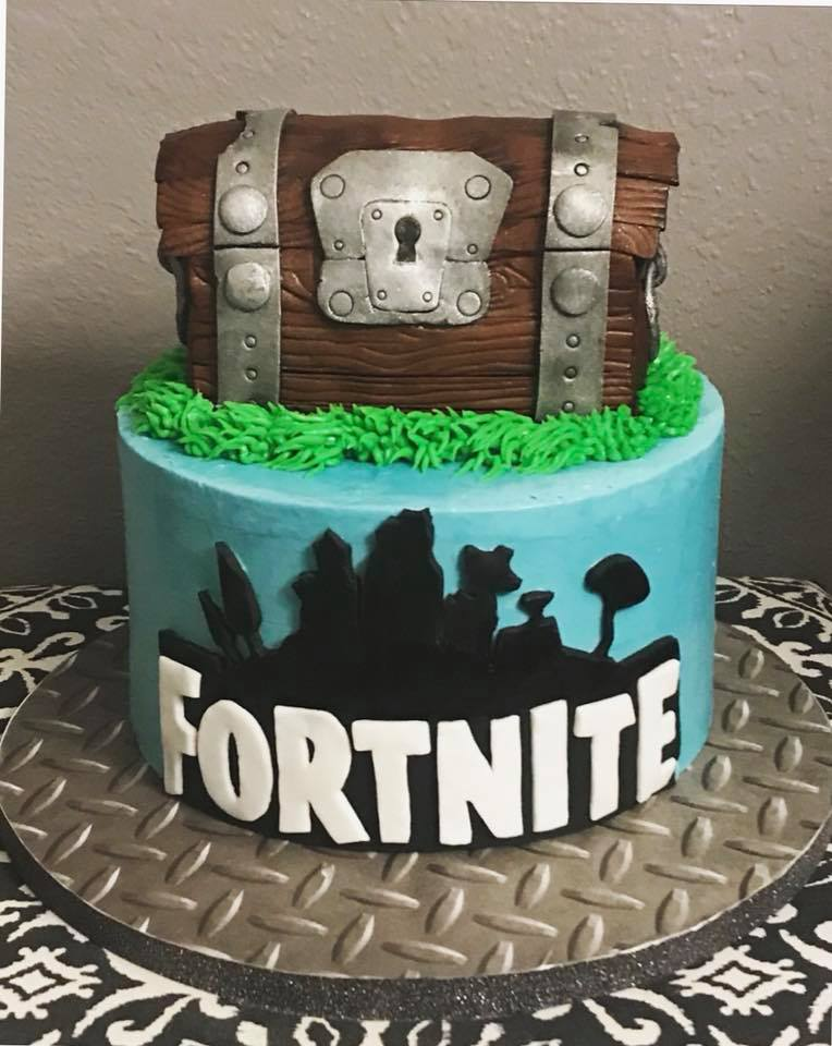 Fortnite Birthday Cake