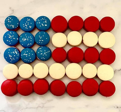 Fourth of July Macarons