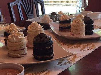 Cakes, frosting, filling for tasting