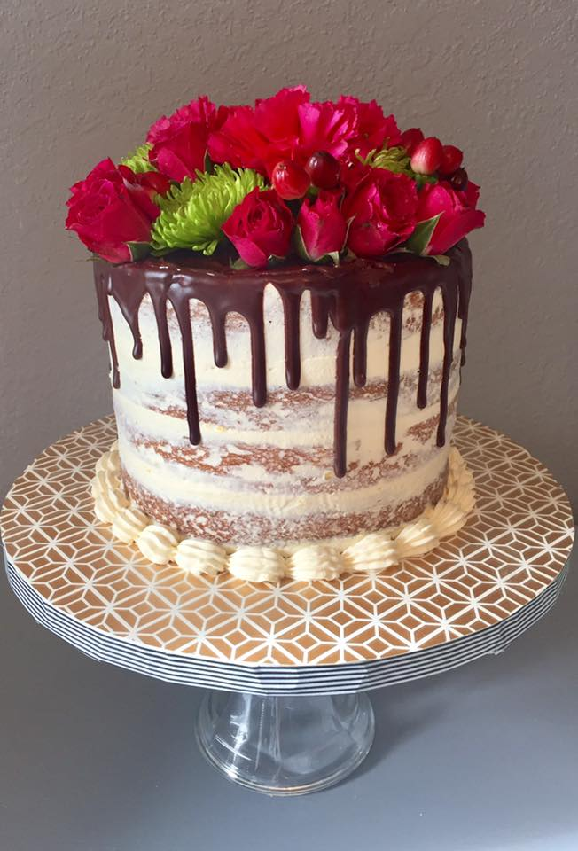 Rose Drip Cake