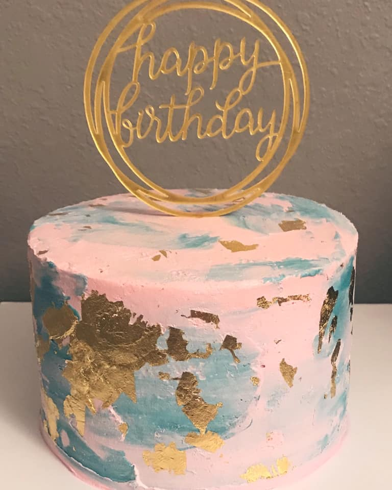 Watercolor Effect Cake