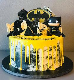 Batman Drip Cake