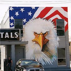 Street Eagle Mural