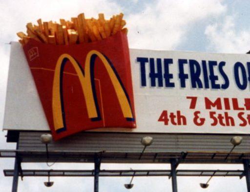 McDonalds 3D Billboard