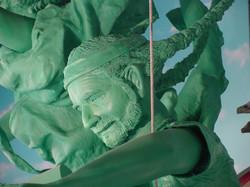 Willie Nelson Freebirds Sculpture