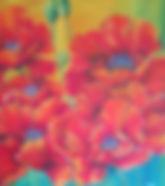 Poppy painting in sunshine