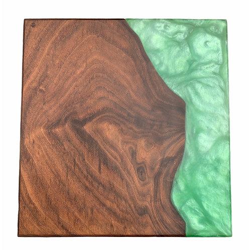 Charcuterie Board - Walnut & Green Eco Epoxy
