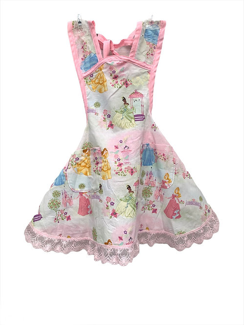 Pink Disney Princess Apron - Child sz 3/4