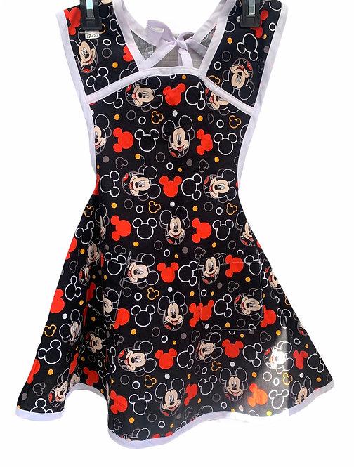 Black Mickey Mouse Apron - Child sz 7/8