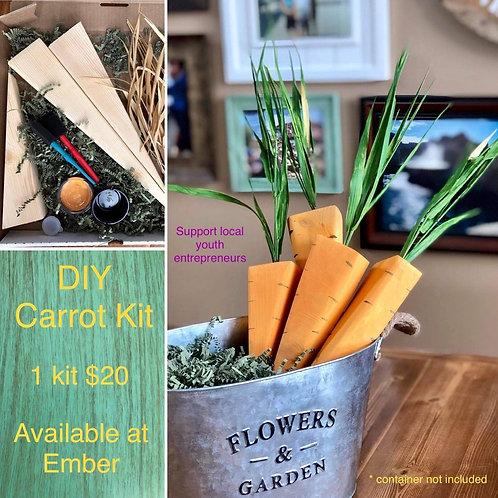 DIY Carrot Kit - 4 carrots per kit