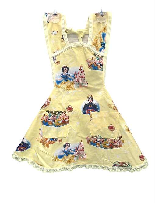 Yellow Snow White Apron - Child sz 5/6