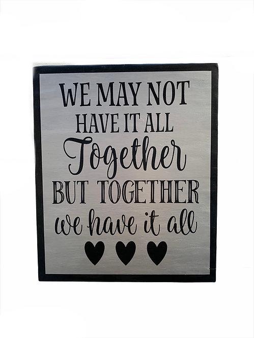 Wood Sign - Together