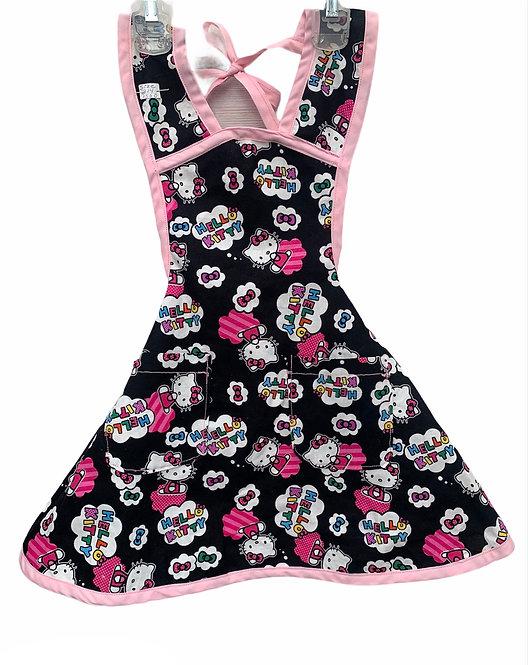 Black/Pink Hello Kitty Apron - Child 3/4
