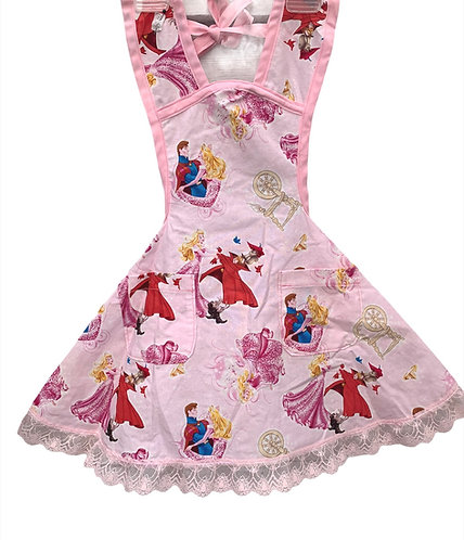 Pink Sleeping Beauty Apron - Child 3/4