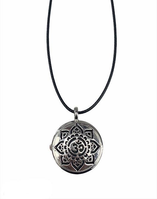 Aromatherapy Necklace - Mandala w/ OM symbol