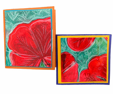 Hand Painted Mini Cards  - 2 Pack