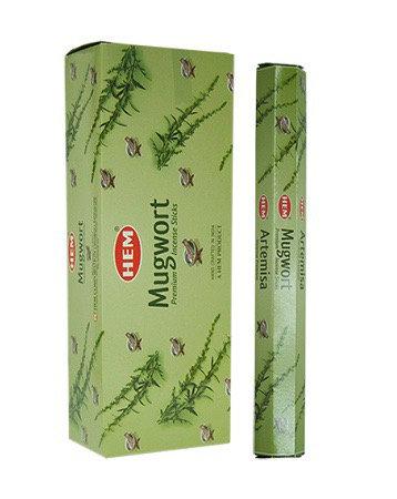 Mugwort Incense Sticks - Hex 20 Pack